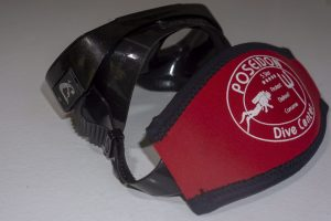 Mask Band Red attached (Mask not included)