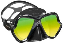 Mares X-Vision golden lens Two-Lens Mask