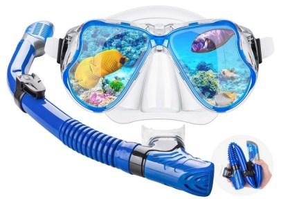 Dry Snorkel Mask Set Snorkeling Gear – Foldable Dry Snorkel Set