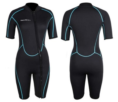 Seaskin Women Shorty Wetsuit 3mm