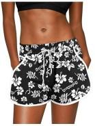 Women Summer Floral Beach Boardshorts