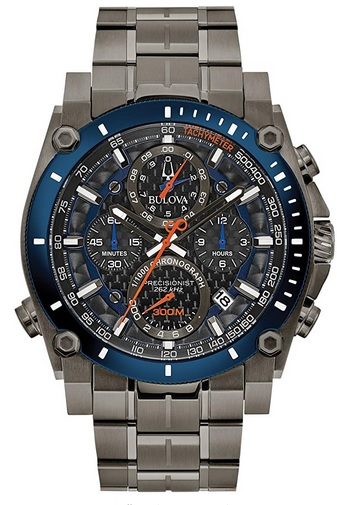 Bulova Precisionist Chronograph Mens Watch, Stainless Steel Diver's watch
