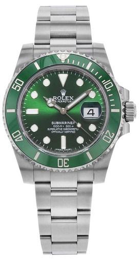 Rolex Submariner Hulk Green Dial Men's Luxury Watch M116610LV-0002 Dive Watch