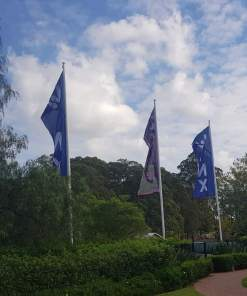 9m straight flagpoles residential