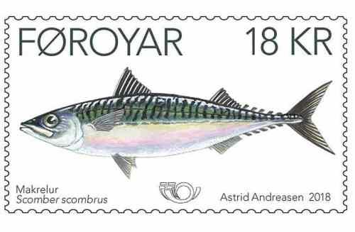 Faroe Islands fish stamp