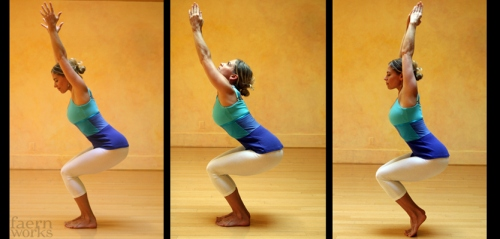 Utkatasana  Fierce Pose or Chair Pose  Pose of the Month