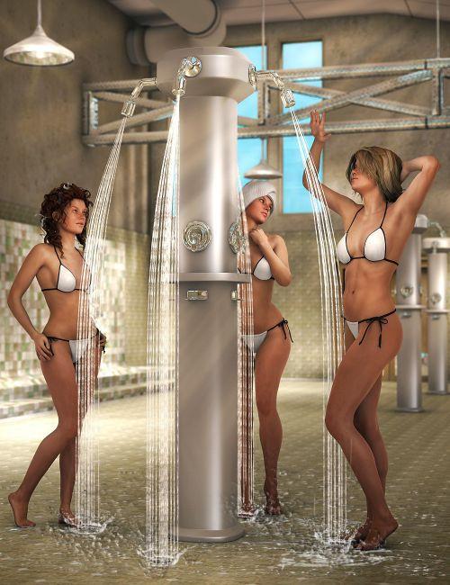 Public Shower  Interiors for Daz Studio
