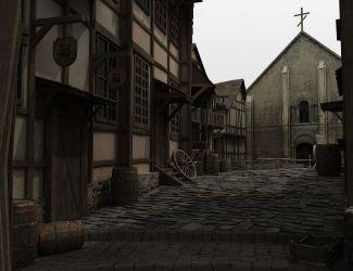 fantasy medieval village poser daz fantas
