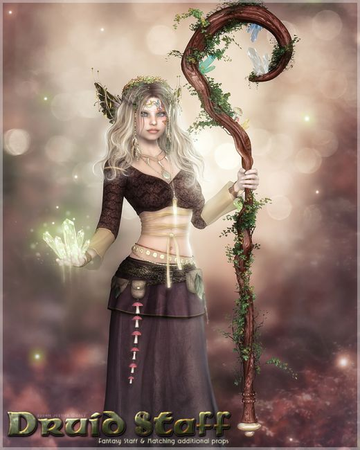 Anime Girl Holding Hands Wallpaper Sv S Druid Staff Props Scenes And Architecture For Poser