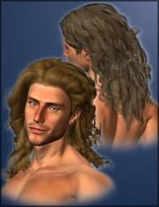 curly hair men 3d models