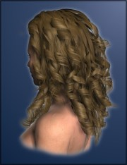 curly hair women 3d models