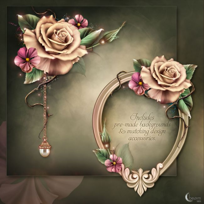 Moonbeams Champagne Roses 2D And Merchant Resources For Poser And Daz Studio