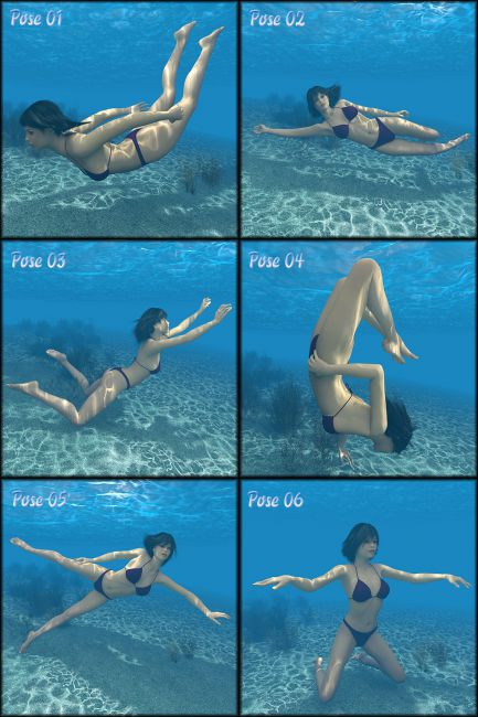 Underwater pose  Poses and Expressions for Poser