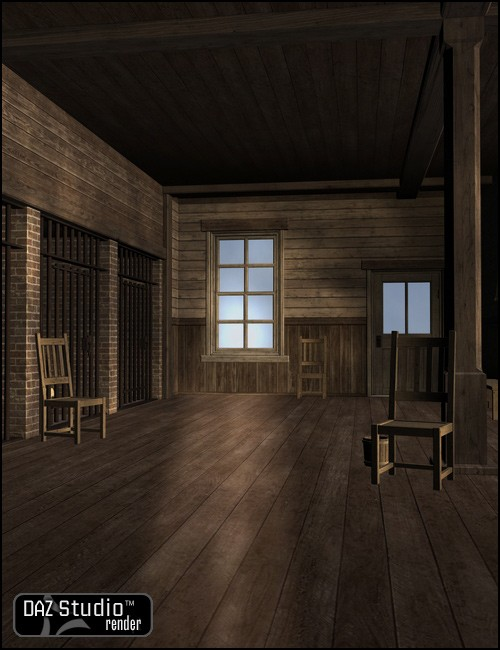 desk chair adjustable maroon office old west sheriffs interior | environments and props for daz studio poser