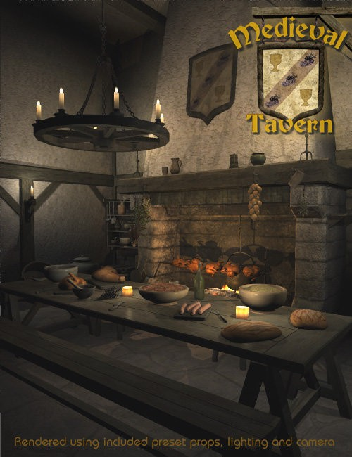 Medieval Tavern Environments And Props For Daz Studio