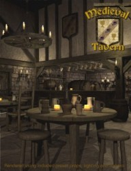 tavern medieval inns taverns pub pubs bar daz 3d interior fantasy haunted decor kitchen england models studio english ages middle