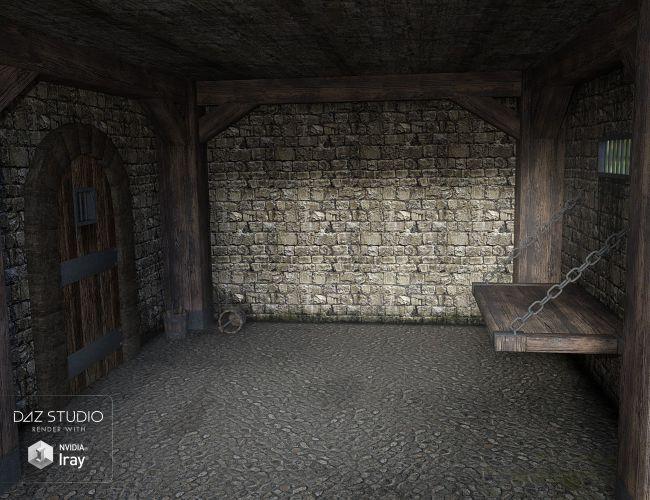 Medieval Prison Room  3D Models for Poser and Daz Studio