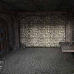 Panel Walls For Living Room Track Lighting Medieval Prison | 3d Models Poser And Daz Studio
