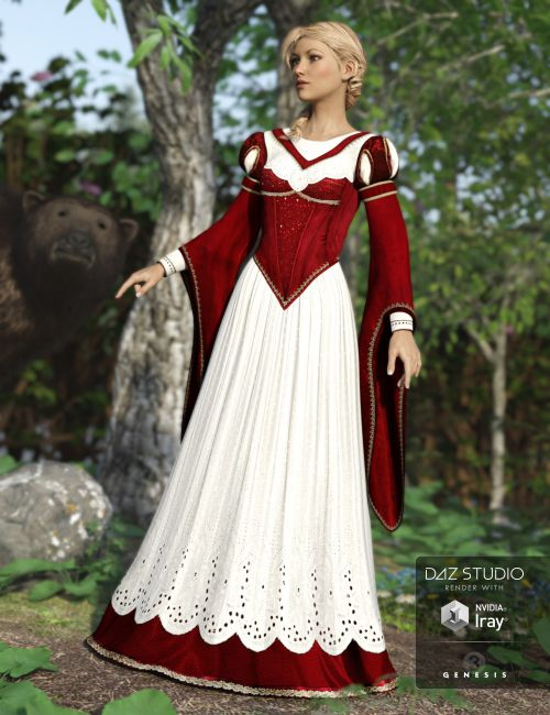 Fairy Tales Snow White and Rose Red  3D Models for Poser