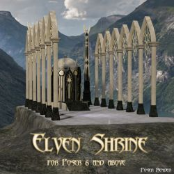 AJ Elven Shrine Architecture for Poser and Daz Studio