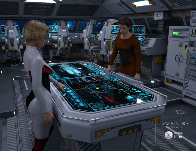 Scifi Cockpit Interior  3D Models for Poser and Daz Studio