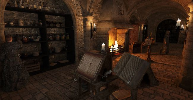 Medieval Scriptorium  3D Models for Poser and Daz Studio