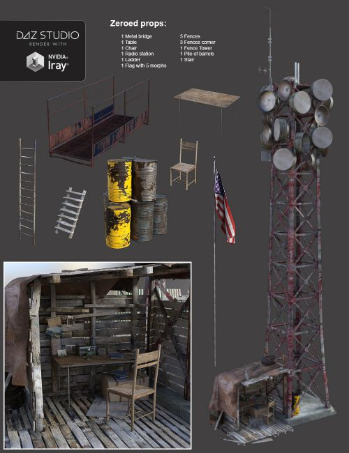 PostApocalyptic World The Outpost  3D Models for Poser