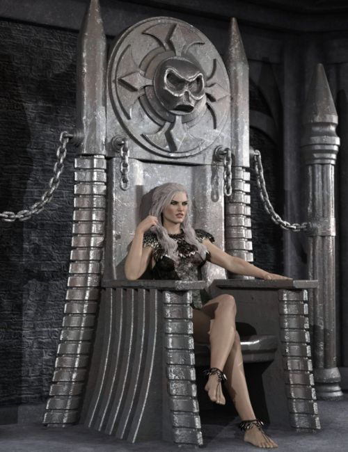 Dark Fantasy Throne and Poses for Genesis 3 Male and