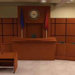 Computer Desk And Chair Set Sure Fit Covers Canada The Courtroom | 3d Models For Daz Studio Poser
