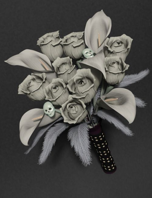gothic flowers mix and