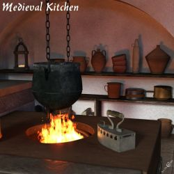 Medieval Kitchen Architecture for Poser and Daz Studio
