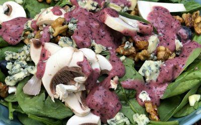 Blueberry, Walnut, and Stilton Salad