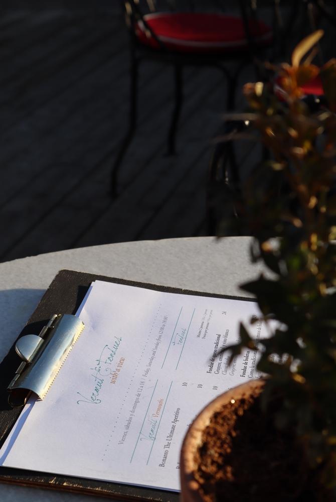 menu rooftop bar terraza hotel principal madrid espagne