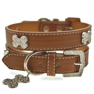 diamante-bone-dog-collar
