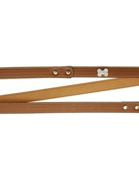 brown-diamante-bone-dog-lead