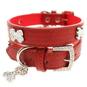 diamante-bone-collar-red