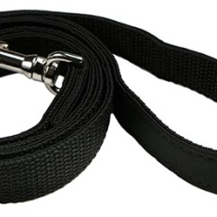 balck-fabric-dog-lead