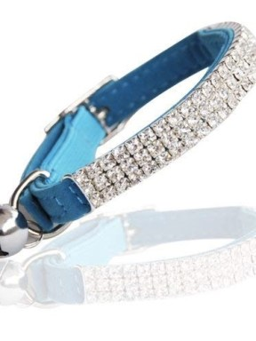 Blue_Velvet-Diamante-Crystal_Cat_Collar