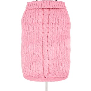 Baby Pink Cable Knit Dog Jumper