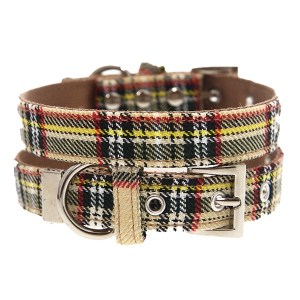Brown-Tartan_Dog-Collar