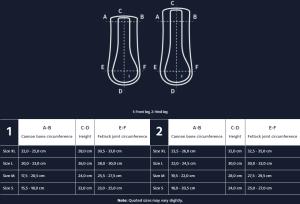 HI-PRO Boot Size Chart