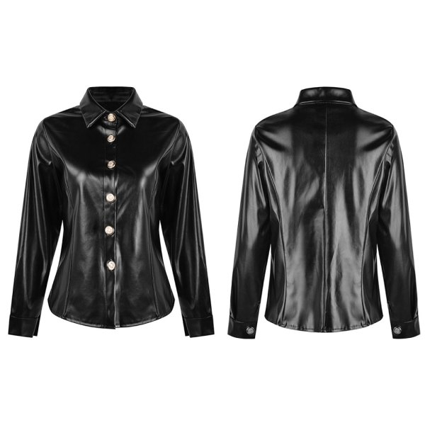 Bold Leather Shirt