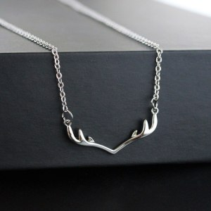 Small Antlers Pendant Necklace