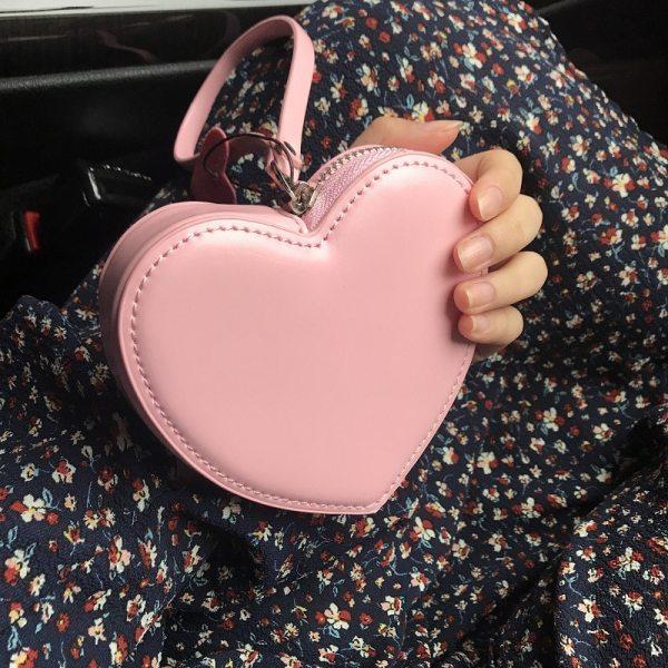 Cute Love Heart Mini Wallet Purse
