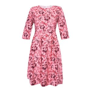Season Of Bloom Half Sleeve O-Neck Dress