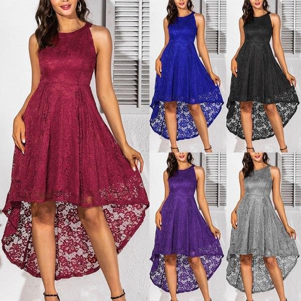Sexy Irregular Hem Lace Dress