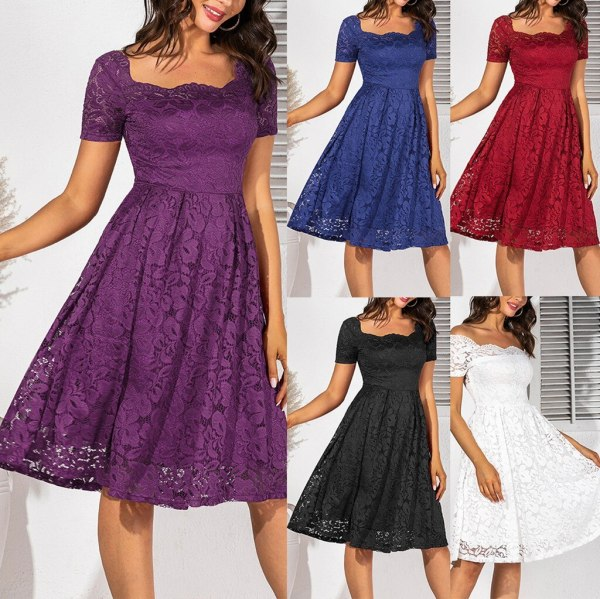 Vintage Lace Short Sleeve dress
