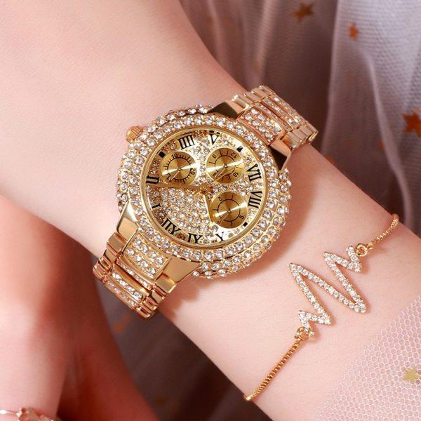 Luxury watch women ladies Stainless Steel bracelet watch diamond Fashion waterproof quartz watch relogio feminino Wristwatches