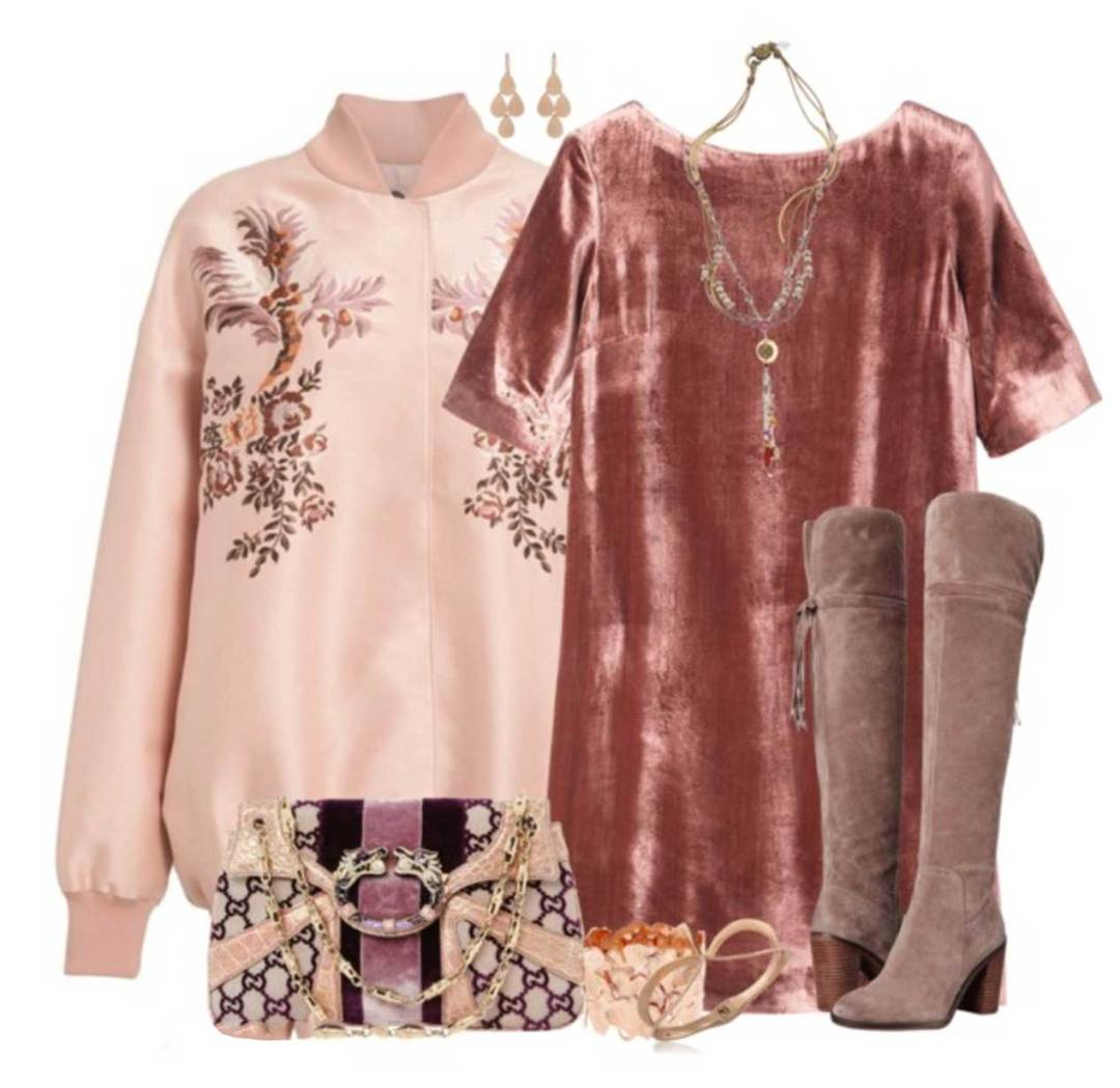 Winter Dressing Style: Brown lace up over the knee boots