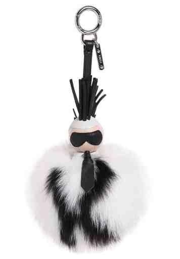 Fendi-Karlito-Mink-Fur-Charm-White